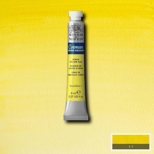 Winsor & Newton Cotman Watercolour Paint - 8ML Tubes - Lemon Yellow (Cotman Watercolor Tubes)