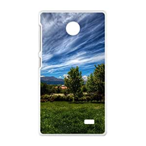 Forest And Clouds Sky White Phone Case for Nokia Lumia X