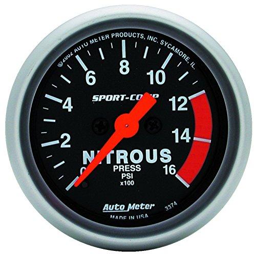 - Auto Meter 3374 Sport-Comp Electric Nitrous Pressure Gauge