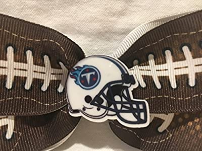 Tennessee Titans Hair Bow, Football Hair Bow, Football Hair Accessories, Football Hair Clip