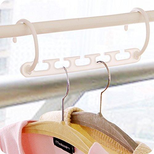 Clothes Hanger Rack Clothing Hook Magic Space Saver Organizer Set - 7