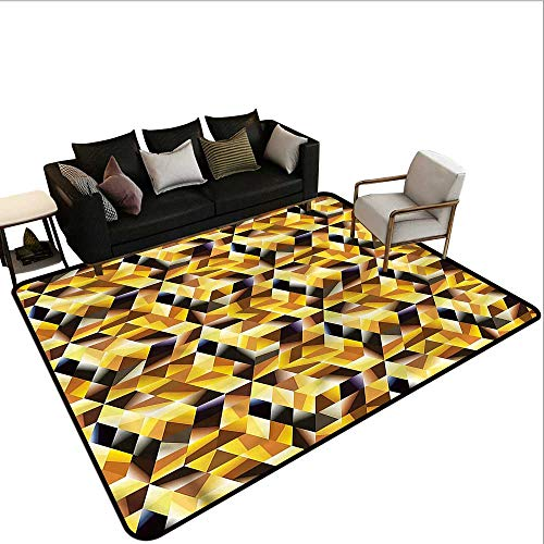 - Abstract,Polyester Non-Slip Doormat Rugs 24
