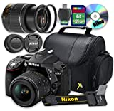Nikon D5300 DSLR Camera with 18-55mm Lens + 16GB Memory SD Card + Accessory Kit - International Version (No Warranty)