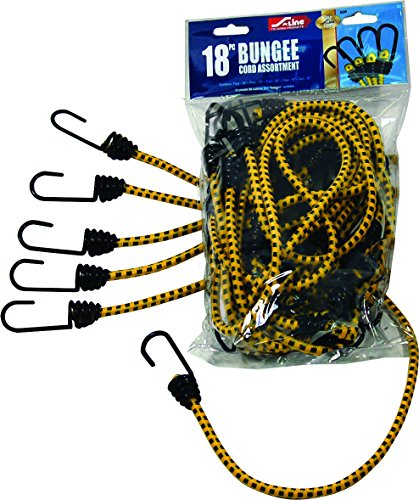 S-Line SL64 Assorted Standard Bungee Cords 18-Piece, Four 16-Inch, Two 24-Inch, One 30-Inch, One 36-Inch, Four Minis