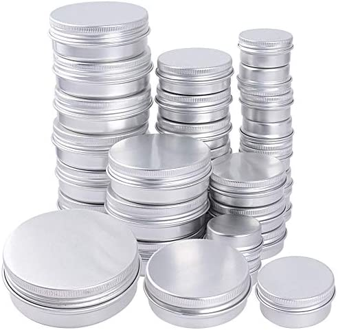 15 ml30 ml60 ml 30 stuks dozen aluminium set met schroefdeksel crèmedozen rond leeg blikken voor lippenbalsem blikken blikdoos klein aluminium doos schroefdop deksel Kerstmis