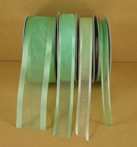 Mint Green Organza Satin Edge Ribbon Choose Size 25 Yards 3/8