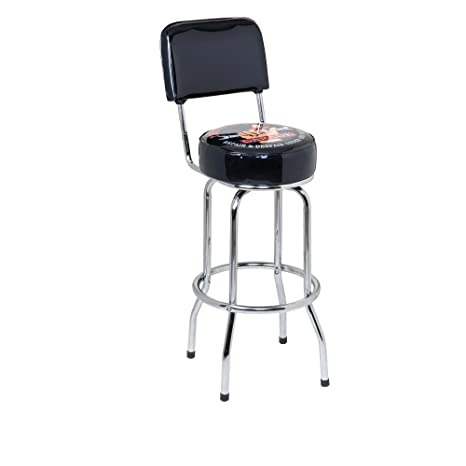 Awesome Busted Knuckle Garagea Bar Stool With Backrest Ncnpc Chair Design For Home Ncnpcorg
