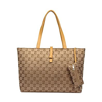 ZENTEII Women Faux Synthetic Leather Handbag Tote Purse