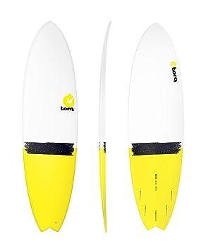 Tabla de Surf Torq epoxy Tet 6,10Fish Tail DIP Yellow