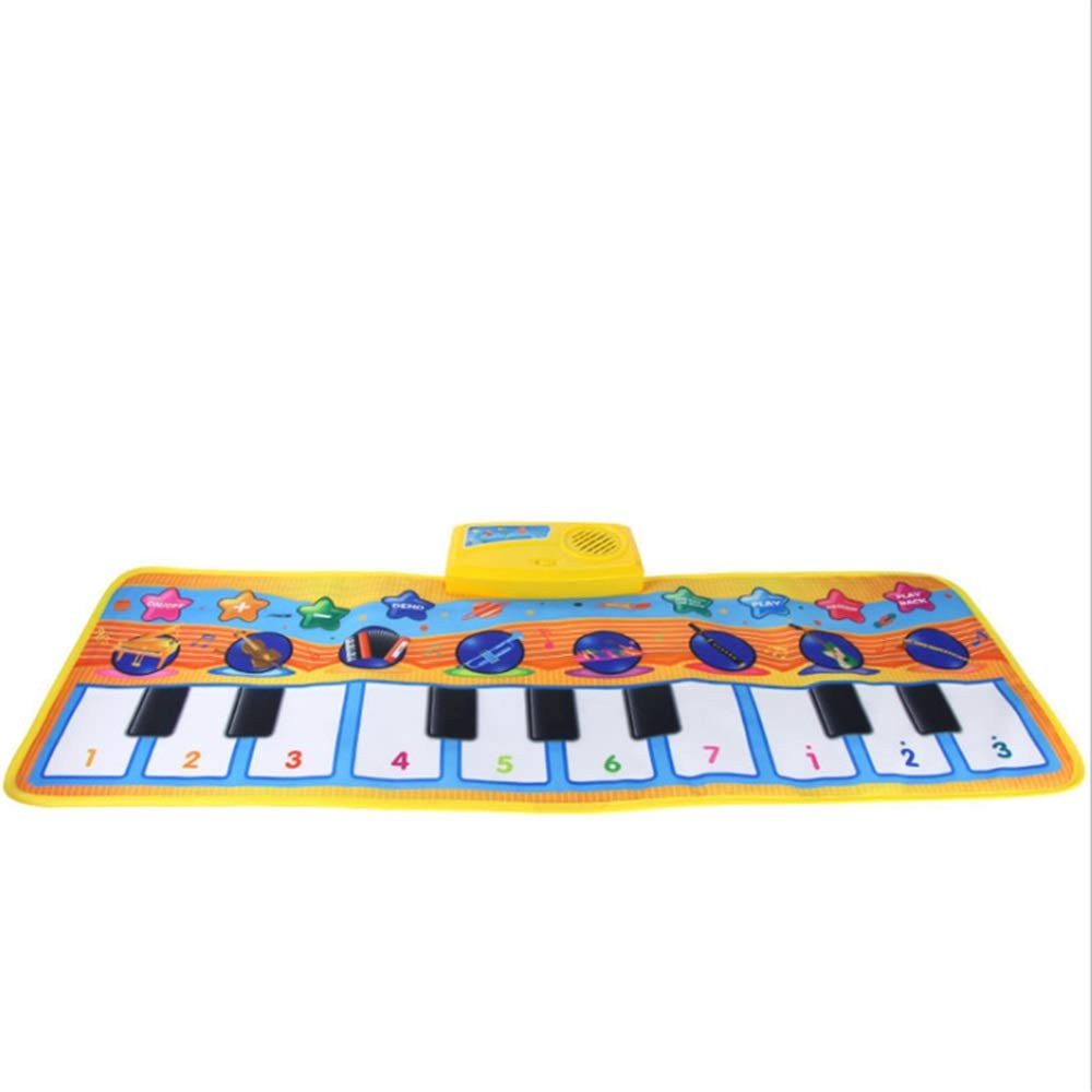 Play Keyboard Mat 32 Inches 10 Keys Electronic Musical Keyboard Playmat Foldable Floor Keyboard Piano Dancing Activity Mat Step And Play Instrument Toys For Toddlers Kids Children's Gift Different Mus by GAOCAN-gq (Image #5)