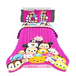 Disney Tsum Tsum \'Faces\' Twin/Full Reversible Comforter