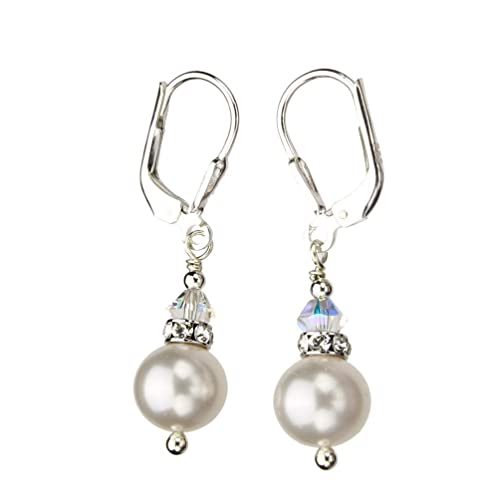 a71363dbf Image Unavailable. Image not available for. Color: Sterling Silver  Leverback Earrings 8mm ...