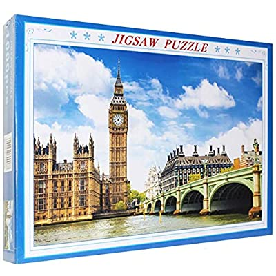 1000 Piece Jigsaw Puzzle for Adults & Kids - London Big Ben Landscape Educational Assembling Toys - Developing Fine Motor Skills, Memory, Shape & Color Sorting - Gift for Birthday & Mother's Day: Toys & Games