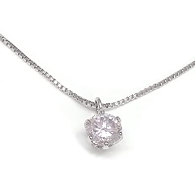 400766df5217 純プラチナ999天然ピンクダイヤモンドネックレス・0.20カラットアップ一粒ナチュラルピンク【