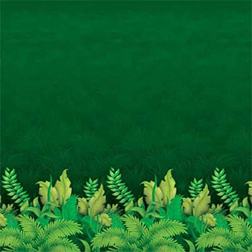 Jungle Foliage Backdrop Party Accessory (1 count) (1/Pkg) ()