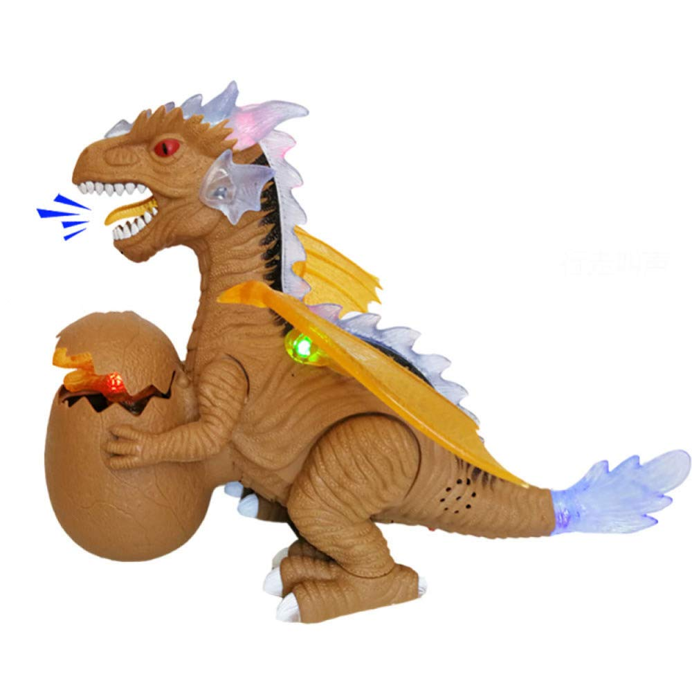 gikmhyb Dinosaurio Infantil Juguete Iluminación Eléctrica Simulación Animal Modelo Niño Regalo De Cumpleaños,Brown