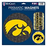 WinCraft NCAA Iowa Hawkeyes Prismatic Magnets Sheet, 11''x11'', Team Color
