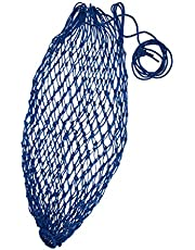 sharprepublic 92cm/ 36'' Nylon Slow Feed Hay Net Horses Feeding Bag Blue/ - Blue, 20 Mesh Hole