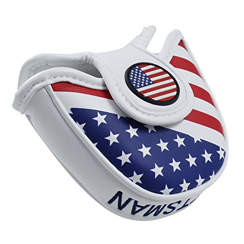 Craftsman Golf USA AMERICA MALLET Putter Cover Headcover For Scotty Cameron Odyssey - Golf Club Putter Cover