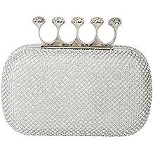 Rimen & Co. Rhinestone Crystal Ring Knuckle Wedding Clutch Evening Bag Purse EB-010