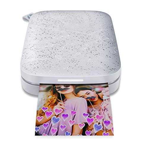 HP Sprocket Portable Photo Printer (2nd Edition) - Instantly Print 2x3 Sticky-Backed Photos from Your Phone - [Luna Pearl] [1AS85A] (Renewed)