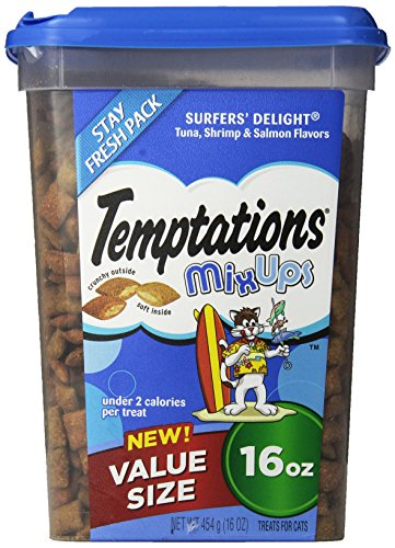 TEMPTATIONS MixUps SURFERS DELIGHT Flavor Treats for Cats 16oz Value Size