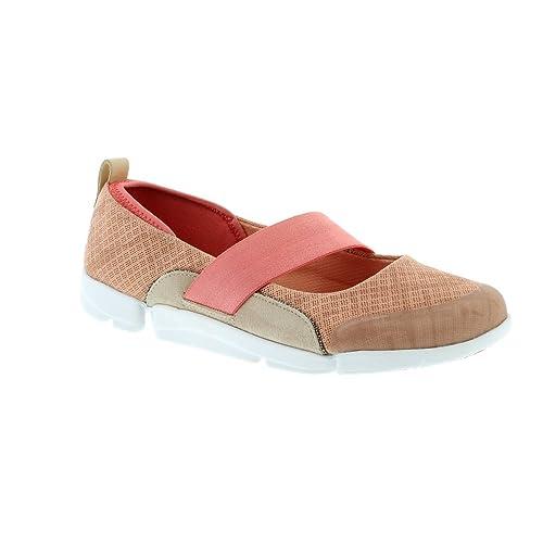 114b054796c Clarks Women s Tri Allie Pink Combi Leather Fashion Mary Jane Flats-3.5 UK  India
