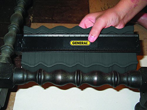 General Tools 833 Plastic Contour Gauge, Profile Gauge, Shape Duplicator, 10-Inch (254mm), Precisely Copy Irregular…
