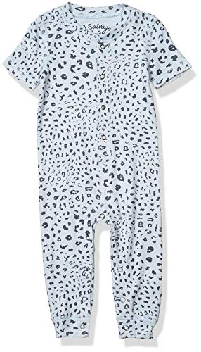 PJ Salvage Kids Baby Kids, Sleepwear Peachy Pajama Romper, Blue, 3/6 Mo