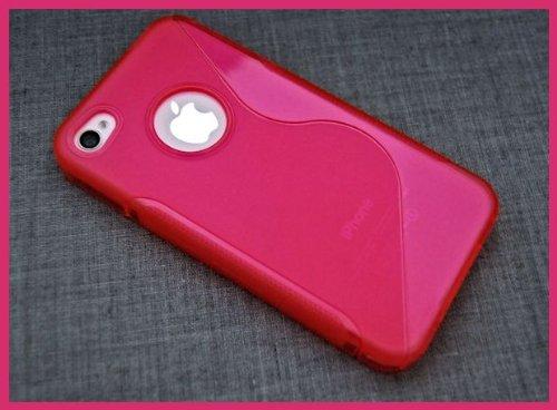 Iphone 4 / 4S Tpu Silikon Hülle Schutzhülle Silikon Schutztasche in Pink