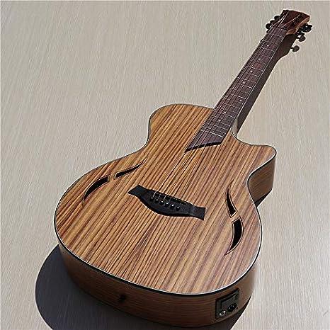 Guitarra acústica eléctrica de madera de nogal de 40 pulgadas, con ...