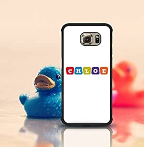 Galaxy S6 Edge Funda Case Brand Logo Chloe Solid [Anti-Slip] Customized Impact Resistant Ultra Slim Compatible with Samsung Galaxy S6 Edge (Suit for S6 Edge)