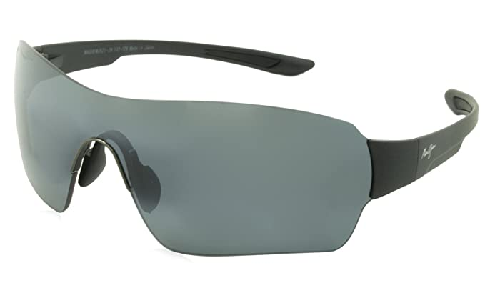 584e3dd987b Amazon.com  Maui Jim Unisex Night Dive Matte Black Neutral Grey ...