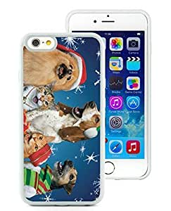 2014 Newest iPhone 6 Case,Christmas Dog and Cat White iPhone 6 4.7 Inch TPU Case 2