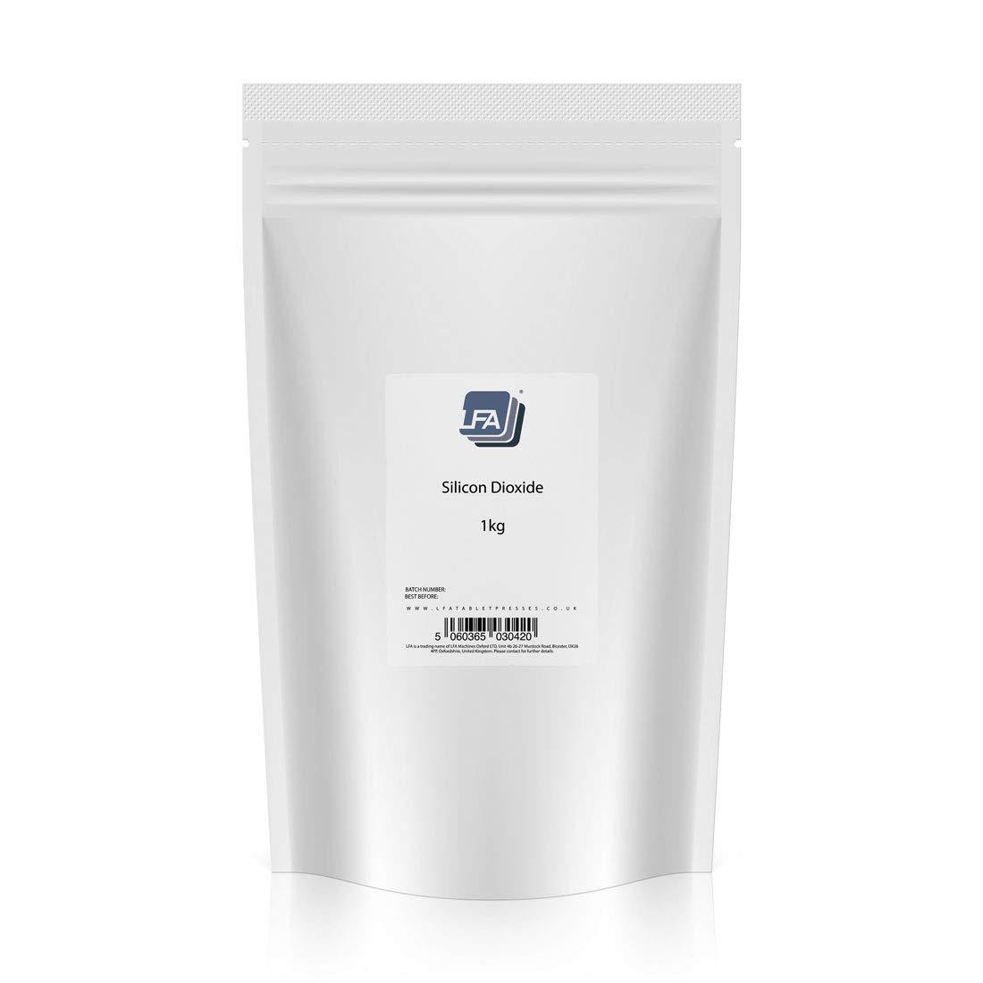 LFA Silicon Dioxide (Silica) Powder - Tablet Flowing & Anti-Caking Agent - 1kg (2.2 lbs)