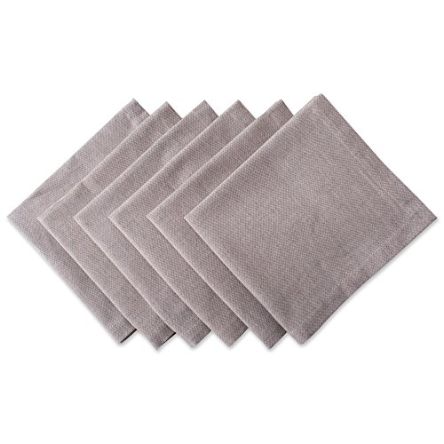"""DII Oversized Cotton Napkin Fall, Brunch, Weddings, Showers, Dinner Parties and Everyday Use - 20x 20"""", Chambray Stone Brown, Set of 6"""
