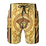 NiiwxcS Mens Retro Greek Gold Vintage Summer Beach Board Shorts Drawstring Soft Beach Pants Sweatpant Trousers