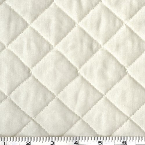Fabri-Quilt Double-Sided Quilted Broadcloth Cream Fabric by The Yard