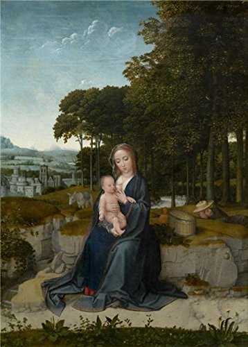 Oil Painting The Rest On The Flight Into Egypt By Gerard David Between 1512 1515 Printing On High Quality Polyster Canvas   18X25 Inch   46X64 Cm  The Best Dining Room Decor And Home Decor And Gifts Is This Vivid Art Decorative Canvas Prints