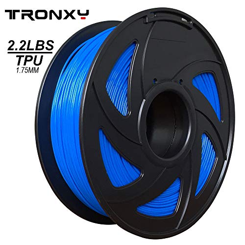 3D Flexible Blue TPU Filament 1.75 mm, 2.2 LBS (1KG) Material: TPU - Material Pearlescent