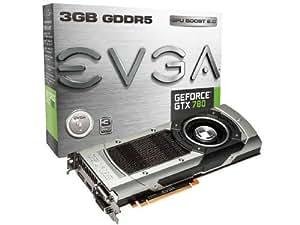 EVGA GeForce GTX780 3 GB GDDR5 384 Bit, Dual-Link DVI-I, DVI-D, HDMI, DP, SLI Ready Graphics Card 03G-P4-2781-KR (Black/Silver)