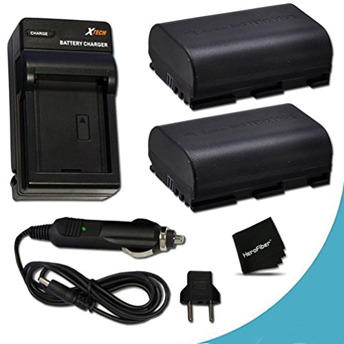 Canon Battery Life (2 Canon LP-E6 Batteries Replacement with AC/DC Quick Charger Kit for Canon CX10, EOS 7D Mark II EOS 7D, 6D, 70D, 60D, 60Da, 5D, EOS 5D Mark II, EOS 5D Mark III, DSLR Cameras)