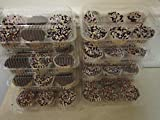 24 pc. 6-Compartment Cupcake Containers boxes with Hinged Lid Clear plus appx. 150 white baking cups liners