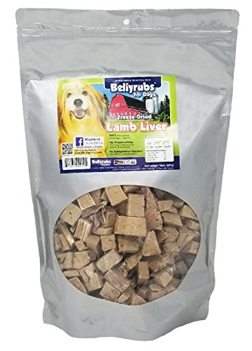 - Bellyrubs Organic All Natural 14-Ounce Freeze-Dried Dog Treats, Lamb And Liver Flavor