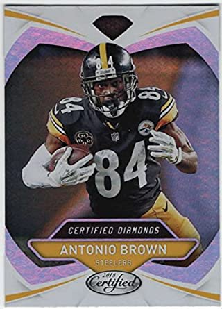 cd484798c78 2018 Certified NFL Diamonds  4 Antonio Brown Pittsburgh Steelers Panini Football  Card