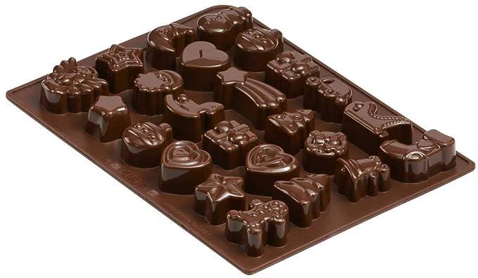 Dr. Oetker Silikon-Schokoladenform, Form für 24 Köstlichkeiten, hochwertige Silikonbackform für Schokolade, Gebäck oder Eis (