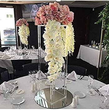 Everbon Pack of 10 31.5 inch Tall Acrylic Floor Vase Clear Flower Vase Table Centerpiece for & Amazon.com: Everbon Pack of 10 31.5 inch Tall Acrylic Floor Vase ...