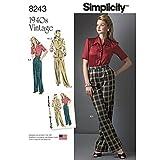 Simplicity Creative Patterns US8243H5 8243 Simplicity Pattern 8243 Misses' Vintage 1940'S Sportswear Pattern,,Size: H5 (6-8-10-12-14)