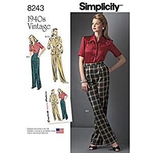 1940s Sewing Patterns – Dresses, Overalls, Lingerie etc  1940S Sportswear PatternSize: H5 (6-8-10-12-14) $3.96 AT vintagedancer.com
