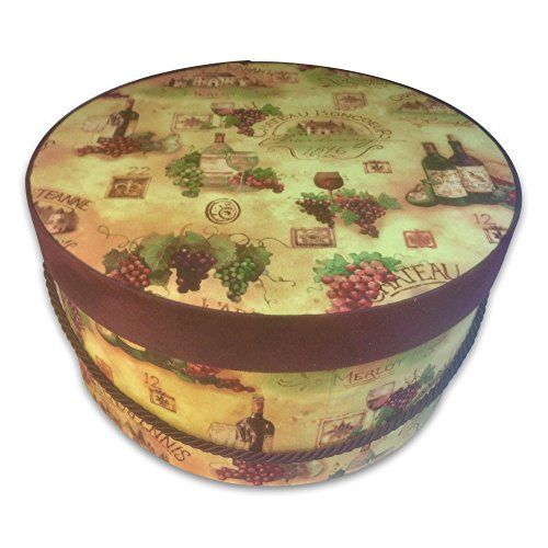 Hat Gift Box - Grapes from Wine Country by L'Artisane Box